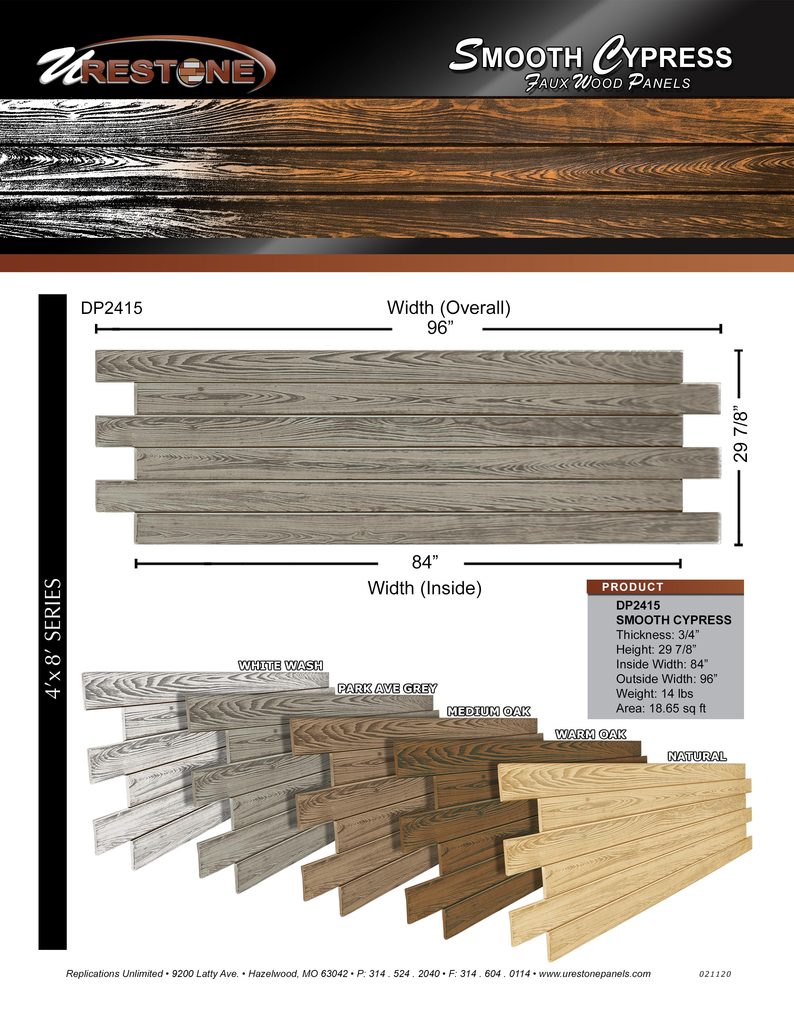 Smooth Wood Data Sheet