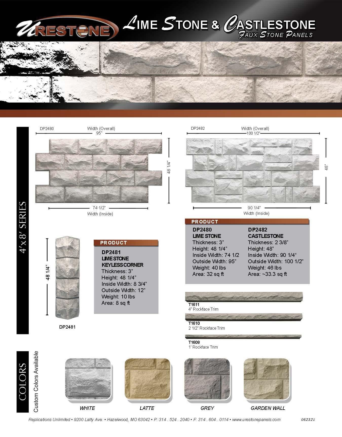 Limestone - Castlestone Data Sheet