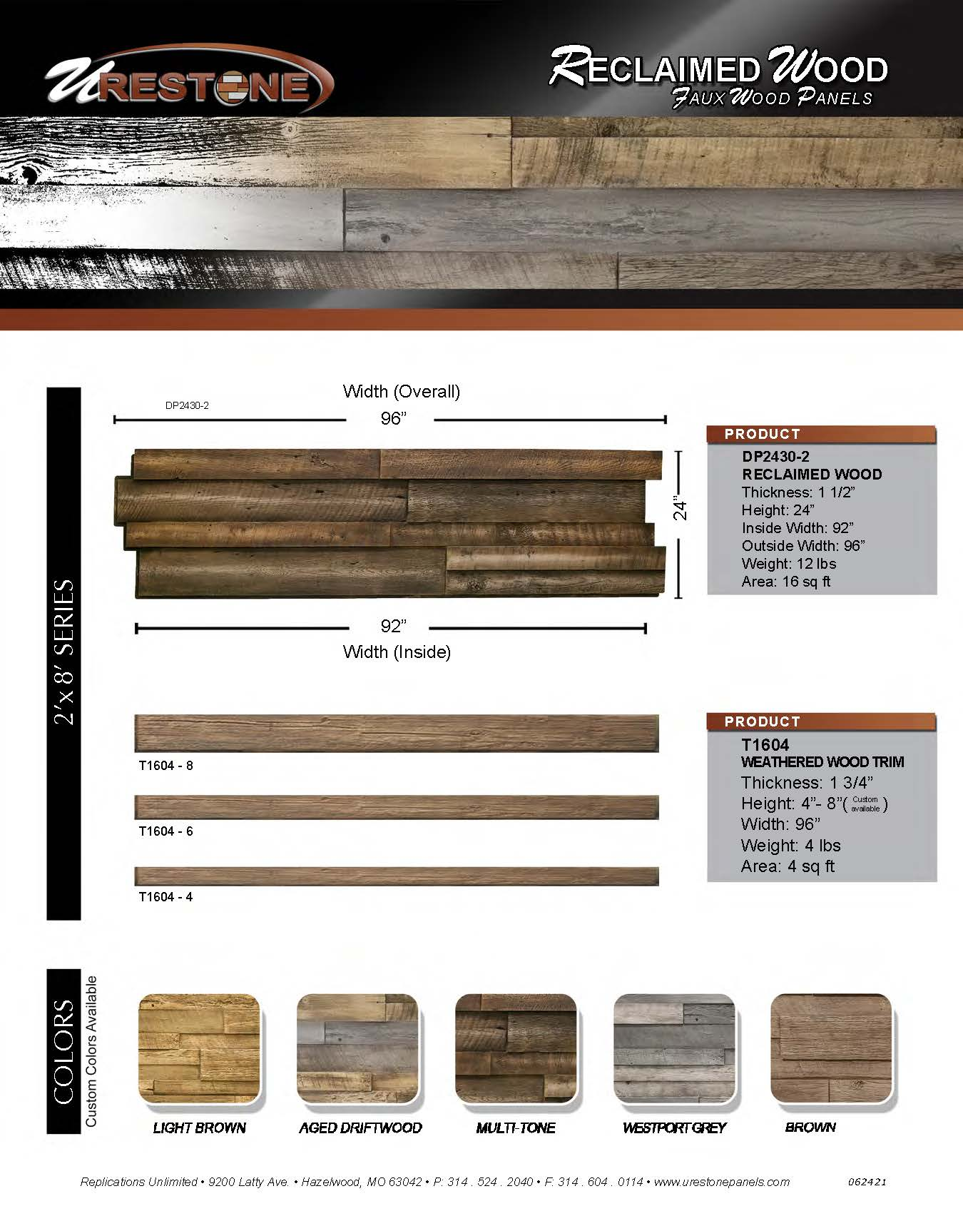 Reclaimed Wood Data Sheet