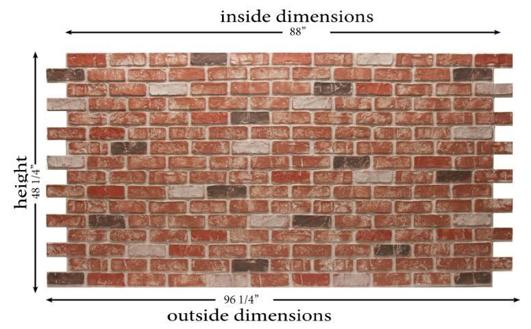 dp2400 Used Brick dimensions
