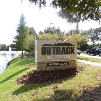 outback sign- Virginia Stacked Stone