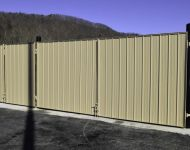 Metal Dumpster Enclosure Gates